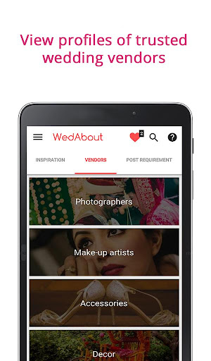 WedAbout Wedding Planning App Screenshot