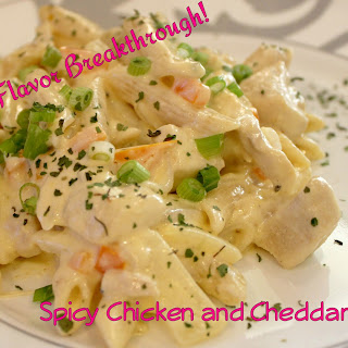 Spicy Chicken and Cheddar Pasta!