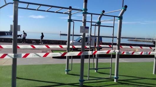Mayor control para las zonas precintadas en parques y espacios deportivos