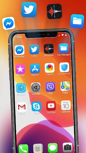 iLauncher Phone 11 Max Pro OS 13 Theme Wallpaper 1.1.1 screenshots 2