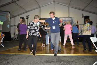 Photo: Line dancing De & Curt Curtis