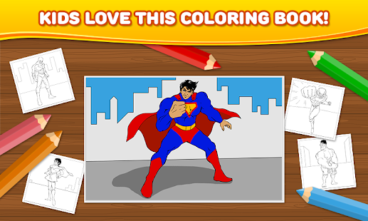 Superhero: Kids Coloring Games - Android Apps on Google Play