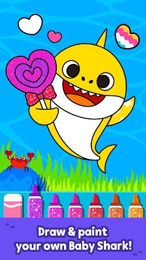 Pinkfong Baby Shark Coloring Book screenshot 2