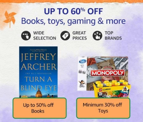 Amazon Great Freedom Sale Books Games & Toys