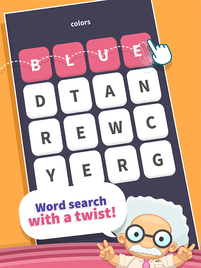 Screenshots of WordWhizzle Search for iPhone