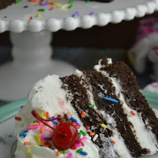 Yummy Layered Chocolate Cake with Sprinkles