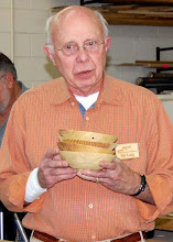 Photo: Bill Long talks about the issues of making a matching set of bowls.