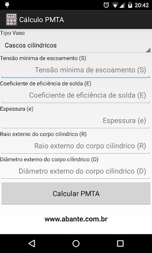 Cálculo PMTA - Beta