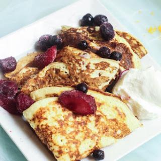 Greek Yogurt Breakfast Crepes.