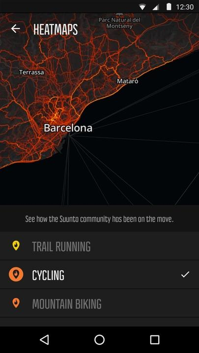 Suunto Movescount- screenshot
