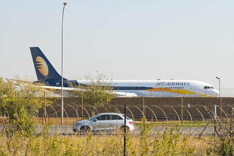 The Gupta wedding party plane that landed at Air Force Base Waterkloof in May 2013 . Picture: WALDO SWIEGERS