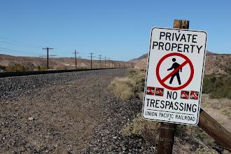Photo: NO TRESPASSING!