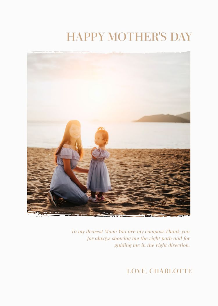 You Are My Compass - Mother's Day Card Template