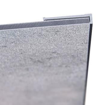 DecoDesign - Zubehör Profil - Endprofil, flächenbündig - Chromoptik (41), Länge 2550 mm
