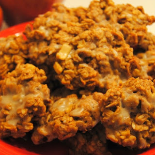 Apple Cookies With Maple Glaze