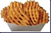 Waffle fries!