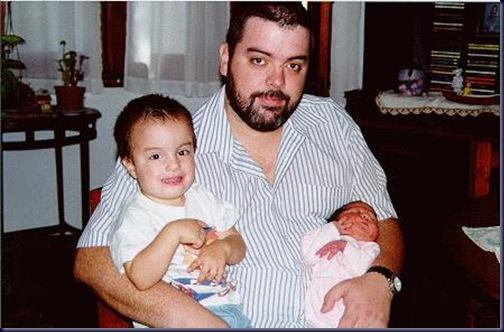 Papá con Santi y Caro