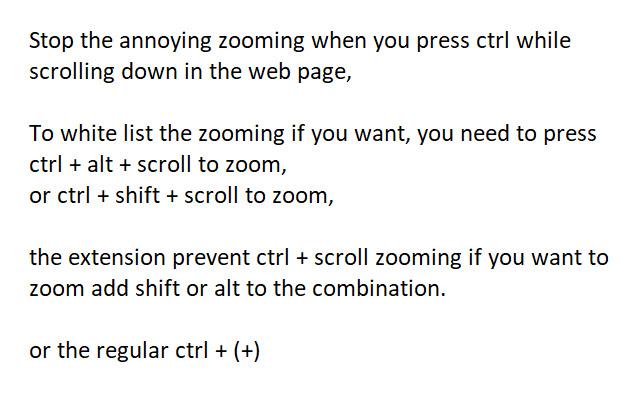 Stop annoying ctrl + scroll Zoom