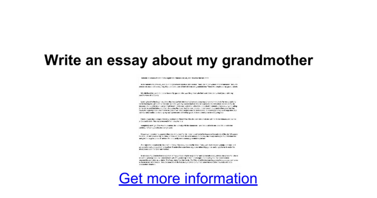 write an essay about my grandmother google docs