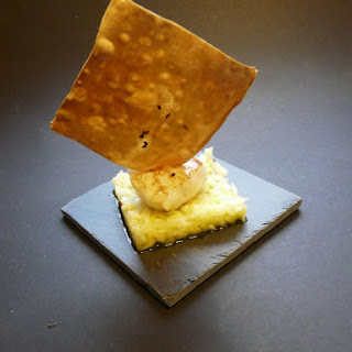Scallops with Crunchy Orange Fennel.