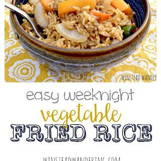 Easy Weeknight Vegetable Fried Rice.