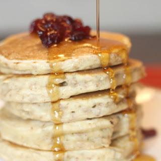 Crunchy Oatmeal Cranberry Pancakes.