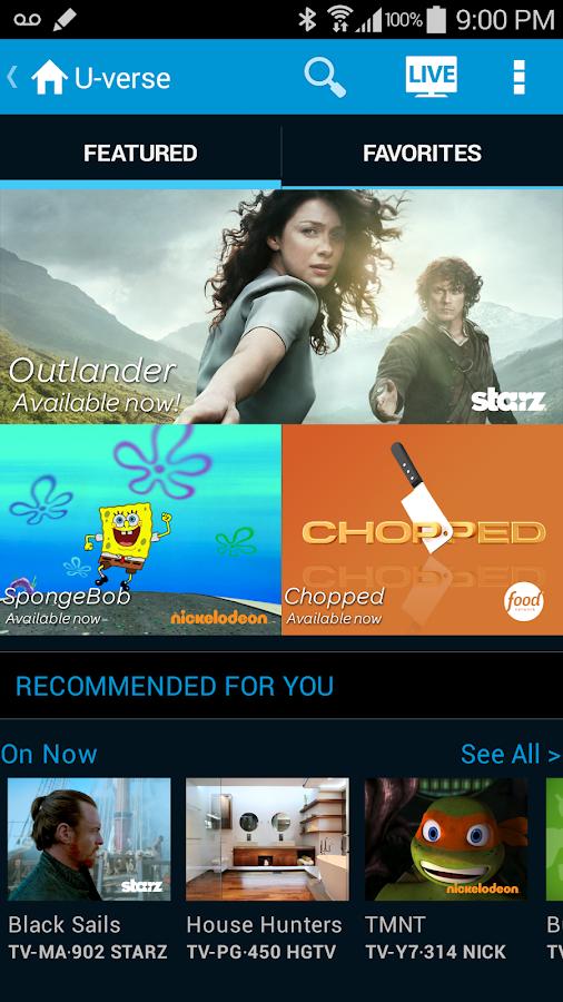 AT&T U-verse - screenshot
