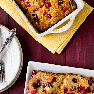 Glazed Lemon-Cranberry Loaf Cake.