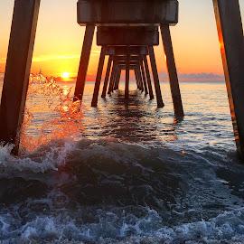 Sun kissed Wave by Etta Cox - Instagram & Mobile iPhone ( ocean pier sunlight waves beautiful florida,  )