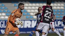Bernabé Barragán en el partido contra la SD Ponferradina.