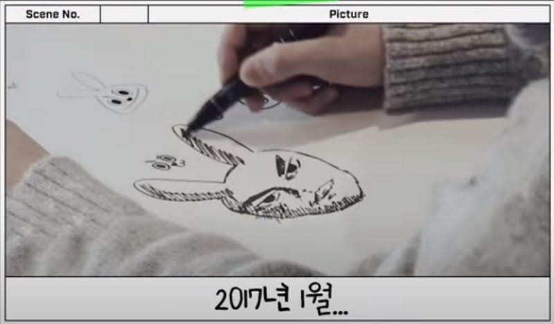 BTS's Jungkook Drawing the cooky of BT21