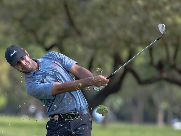 Shubhankar Sharma of India during the day 2 of the Joburg Open at Randpark Golf Club on December 08, 2017 in Johannesburg.