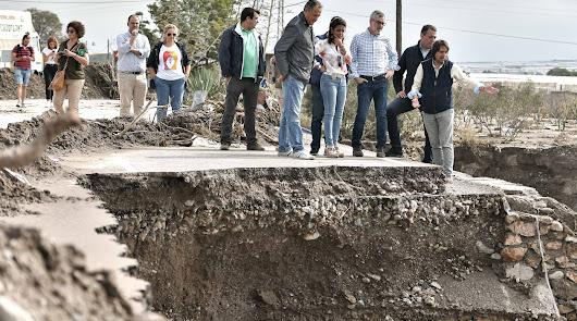 Villegas visita la Comarca de Níjar para ver los daños
