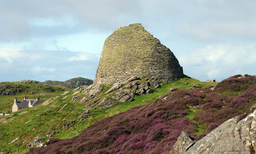 Dun Carloway is a broch — an Iron Age drystone hollow-walled structure found only in Scotland — on the west coast of the Isle of Lewis, Scotland.