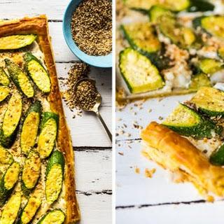 Zucchini Labneh Tart Recipe