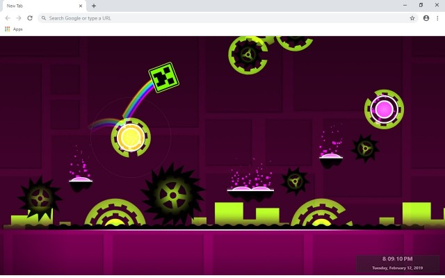 Geometry Dash Lite New Tab Theme