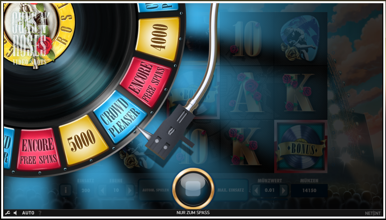 Guns n Roses Slot Features