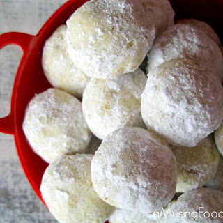 Almond Lime Snowball Cookies.