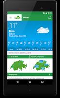 Screenshot of LANDI Wetter