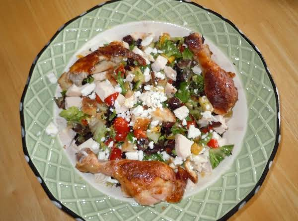 Rustic Chicken With Bread And Grilled Veggies Recipe