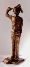 Photo: Crack.   Bronze, 225 mm x 80 mm x 70 mm, 2008.