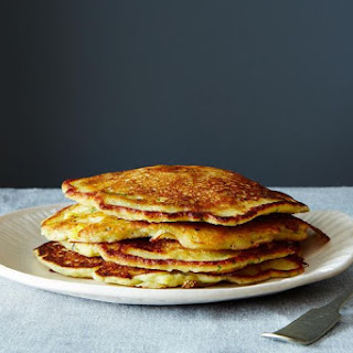 Savory Masa Corn Cakes with Green Chile, Cheese, and Lime Crema