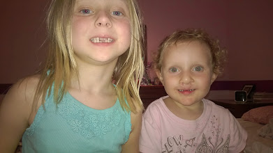 Photo: August 13-Cousins Mya and Isabelle.