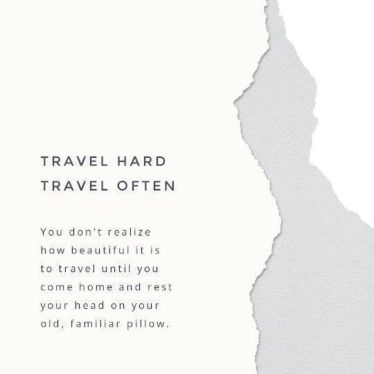 Travel Hard, Travel Often - Instagram Post Template