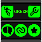 Green and Black Icon Pack v4.6 Free 4.6