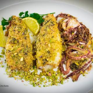 Pistachio Crusted Calamari Oven Cooked – Easy