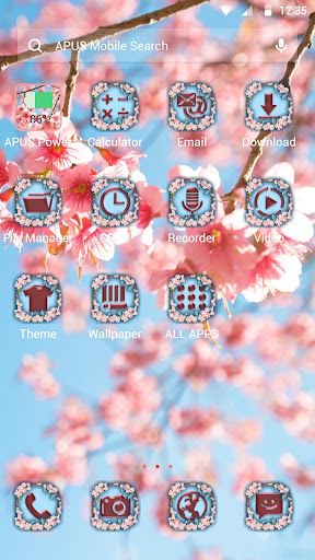 Cherry Blossom APUS Launcher theme - screenshot