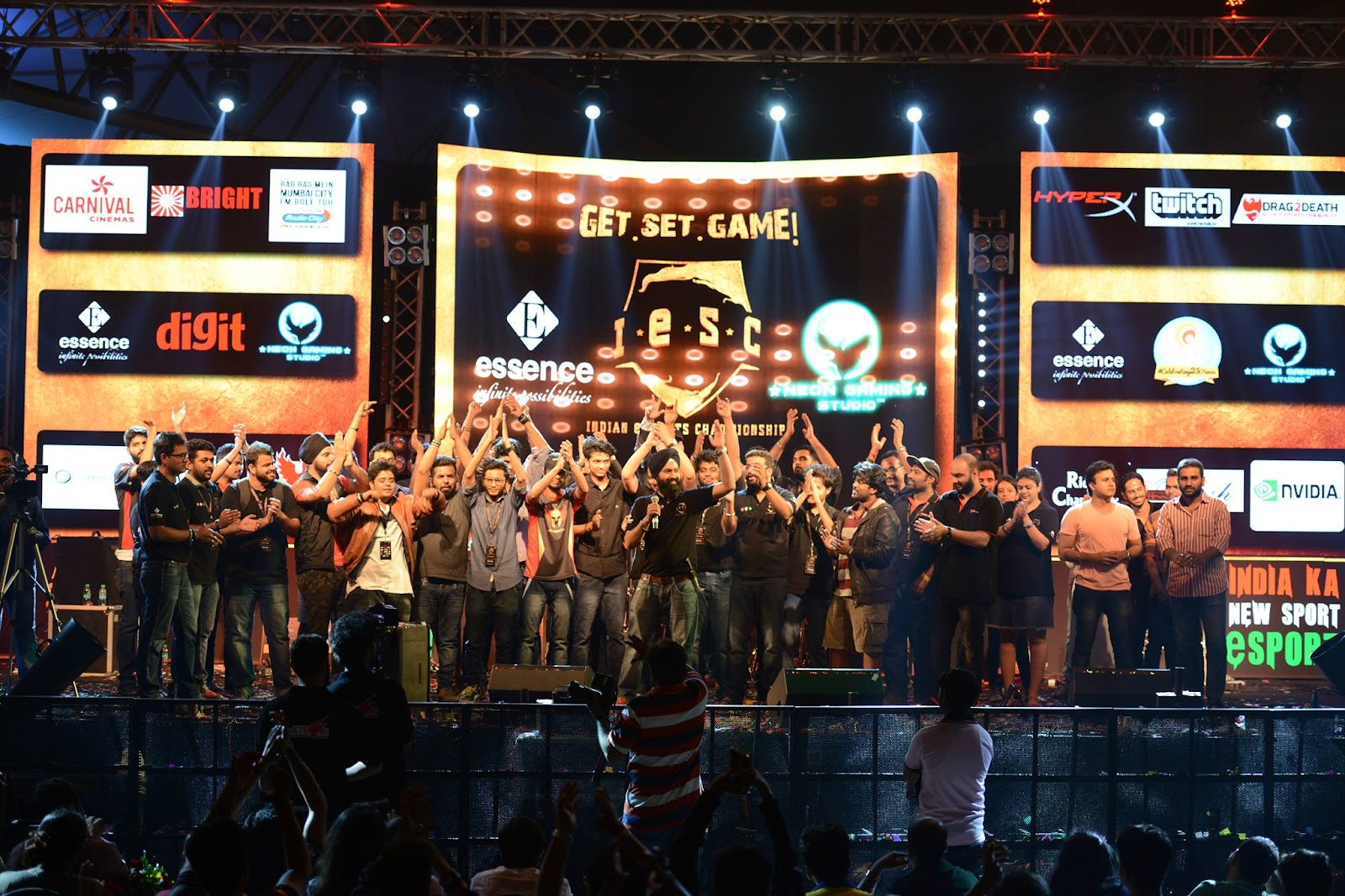 Indian eSports Championship main stage