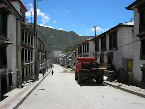 Photo: The streets of Nyalam