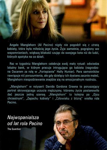 Tył ulotki filmu 'Manglehorn'
